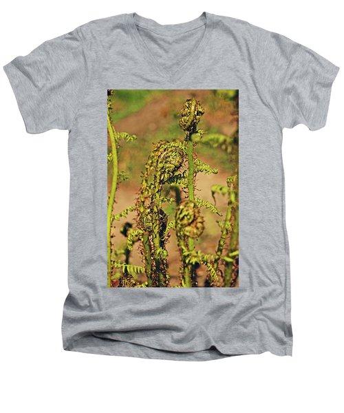 Rivington Terraced Gardens. Fern Frond. Men's V-Neck T-Shirt