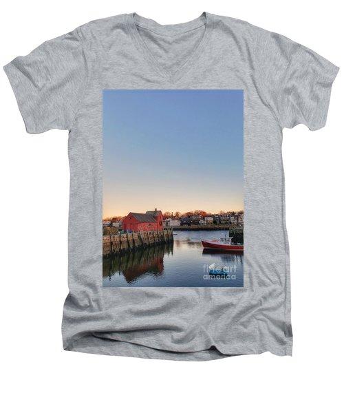 Rockport Massachusetts  Men's V-Neck T-Shirt