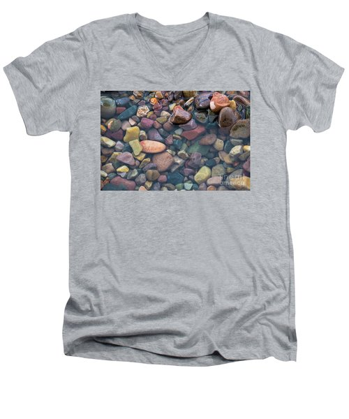 Men's V-Neck T-Shirt featuring the photograph Rocks  by Vincent Bonafede