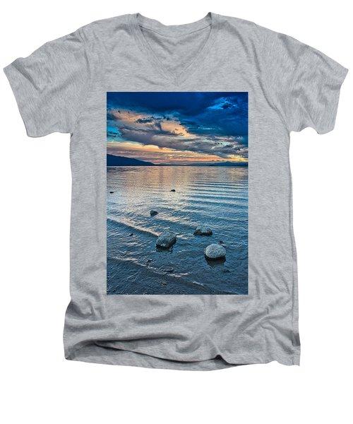 Rocky Lake Vista Men's V-Neck T-Shirt
