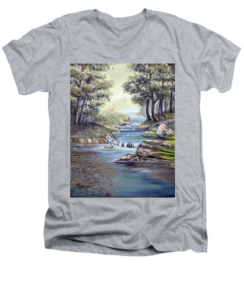 Rocky Stream Men's V-Neck T-Shirt