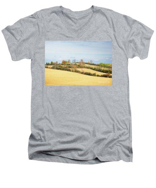 Rolling Hills In Fall Men's V-Neck T-Shirt