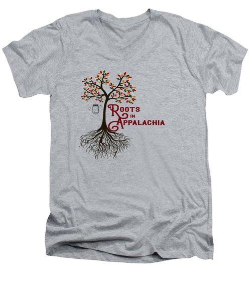 Roots In Appalachia Lightning Bugs Men's V-Neck T-Shirt