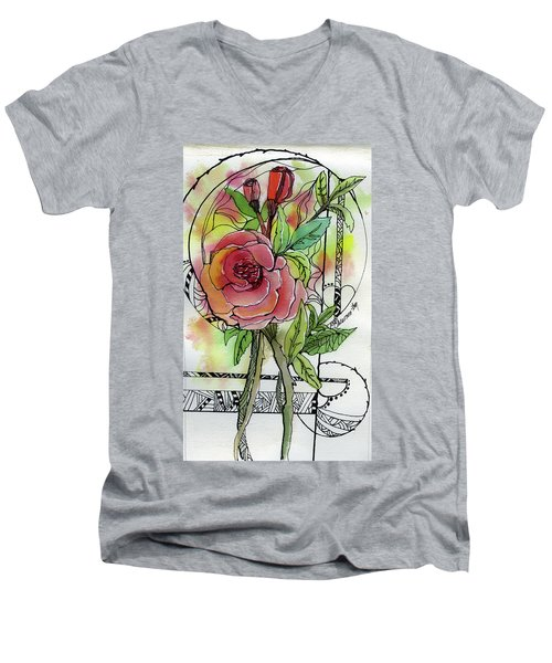 Rose Is Rose Men's V-Neck T-Shirt