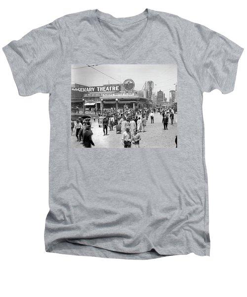 Rosemary Theater Santa Monica Men's V-Neck T-Shirt