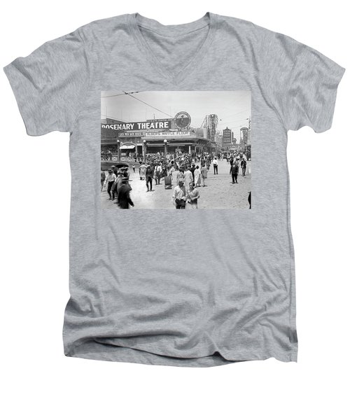 Rosemary Theater Santa Monica Men's V-Neck T-Shirt