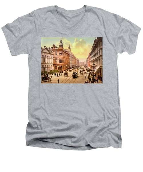 Royal Avenue In Belfast Men's V-Neck T-Shirt