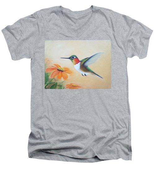 Rufous In Marigolds  Men's V-Neck T-Shirt