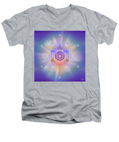 Sacred Geometry 734 Men's V-Neck T-Shirt