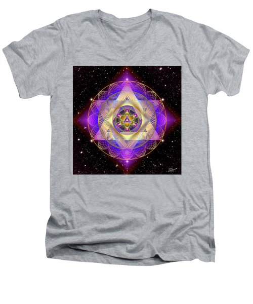 Sacred Geometry 741 Men's V-Neck T-Shirt