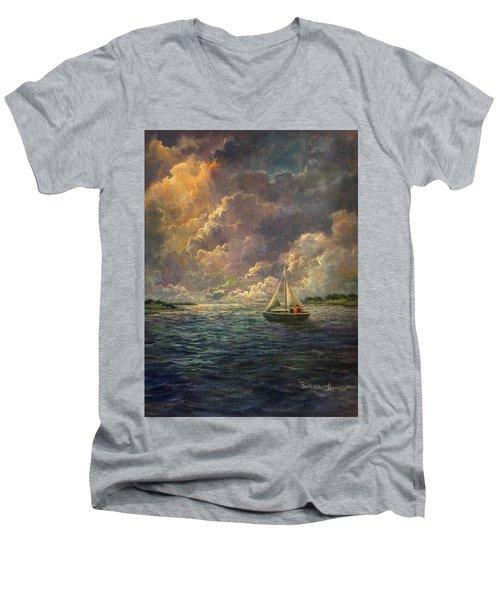 Sailing The Divine Light Men's V-Neck T-Shirt