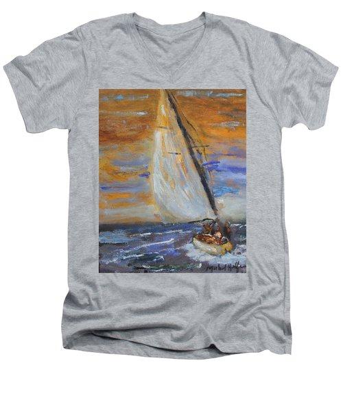 Sailng Nto The Sun Men's V-Neck T-Shirt