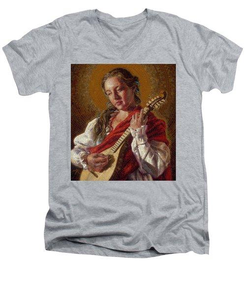 Saint Cecelia Mosaic Men's V-Neck T-Shirt