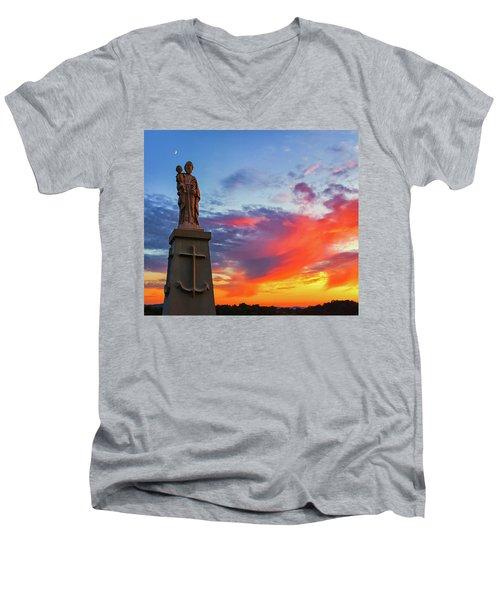 Saint Joseph Sunset  Men's V-Neck T-Shirt