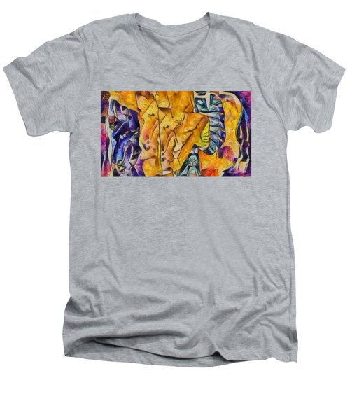 Sally Sells Seashells Men's V-Neck T-Shirt