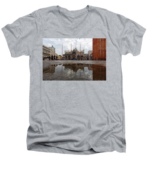 San Marco Cathedral Venice Italy Men's V-Neck T-Shirt