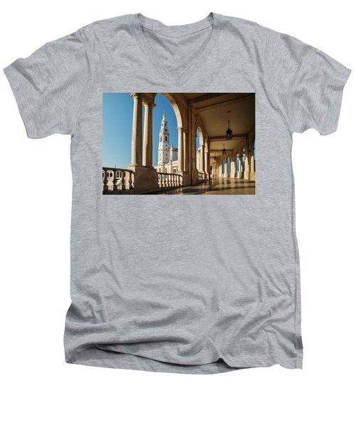 Sanctuary Of Fatima, Portugal Men's V-Neck T-Shirt