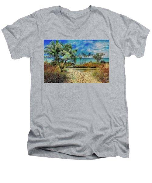 Sand To The Shore Montage Men's V-Neck T-Shirt