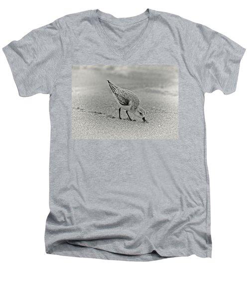 Sanderling Foraging For Food Men's V-Neck T-Shirt