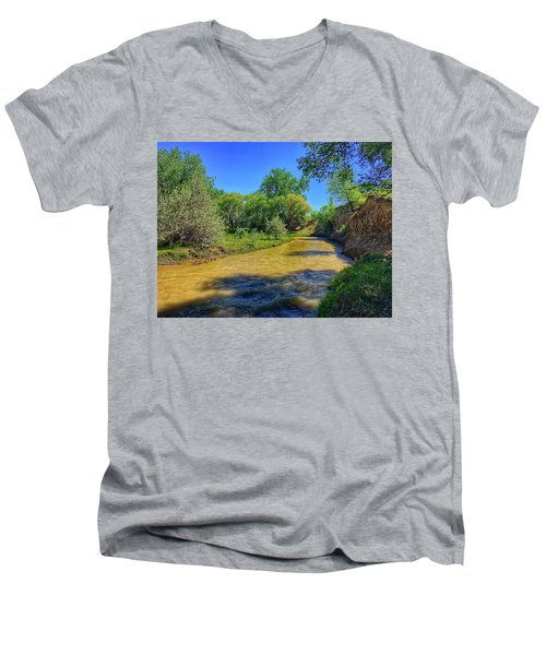 Men's V-Neck T-Shirt featuring the photograph Sandhills Summer by Dan Miller