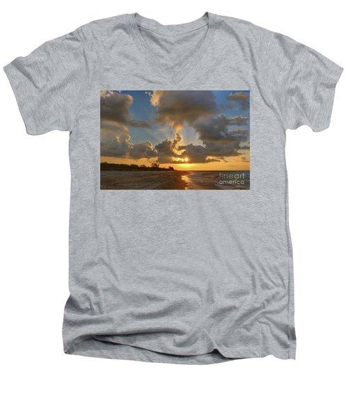 Sanibel Island Sunrays Men's V-Neck T-Shirt