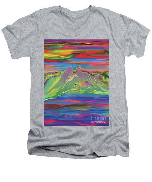 Santa Fe Sunset Men's V-Neck T-Shirt