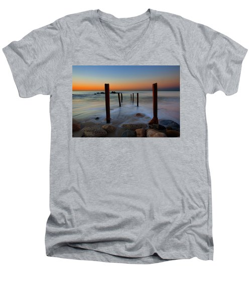 Santa Monica Sunrise Men's V-Neck T-Shirt