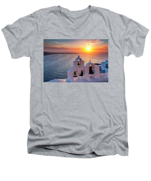 Santorini Sunset Men's V-Neck T-Shirt