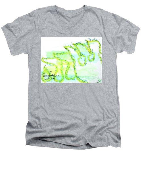 Sarah Nf1-123 Men's V-Neck T-Shirt