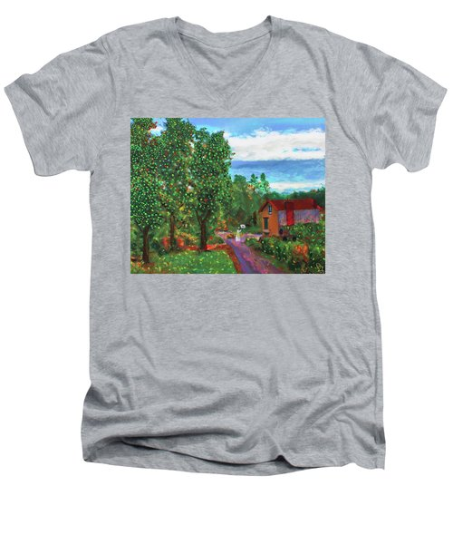 Scene From Giverny Men's V-Neck T-Shirt