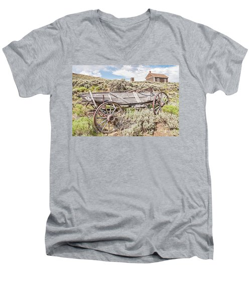 Schoolhouse On A Hill Men's V-Neck T-Shirt