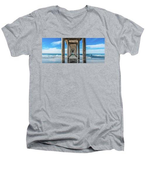 Scripps Pier La Jolla California Men's V-Neck T-Shirt