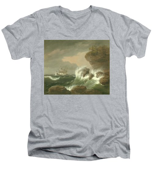 Seascape, 1835 Men's V-Neck T-Shirt