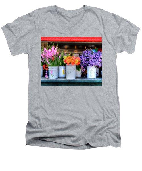 Seattle Flower Market Men's V-Neck T-Shirt