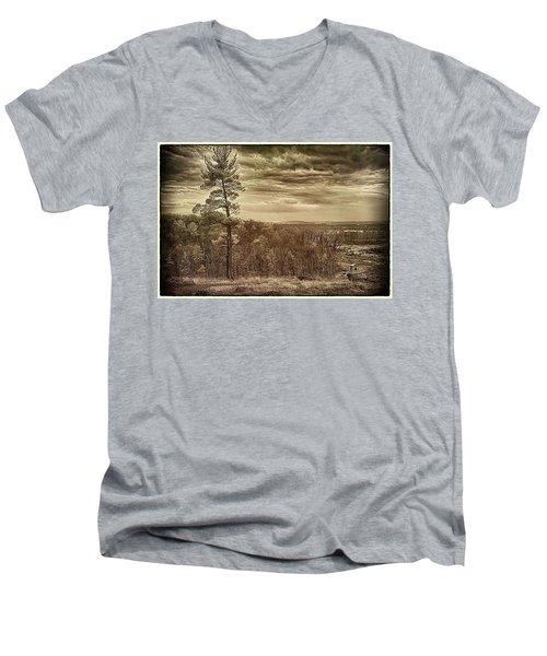 Sepia Sunset Men's V-Neck T-Shirt