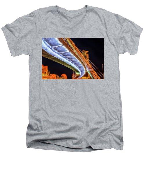 Serpentine Glow Men's V-Neck T-Shirt