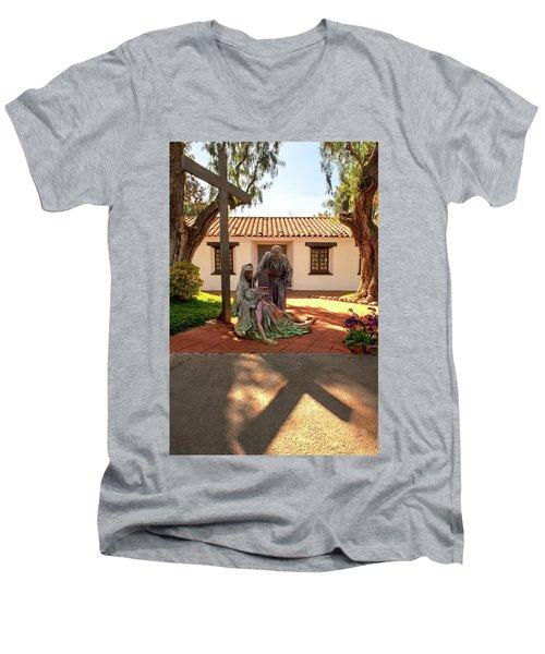 Shadow Of The Cross Men's V-Neck T-Shirt