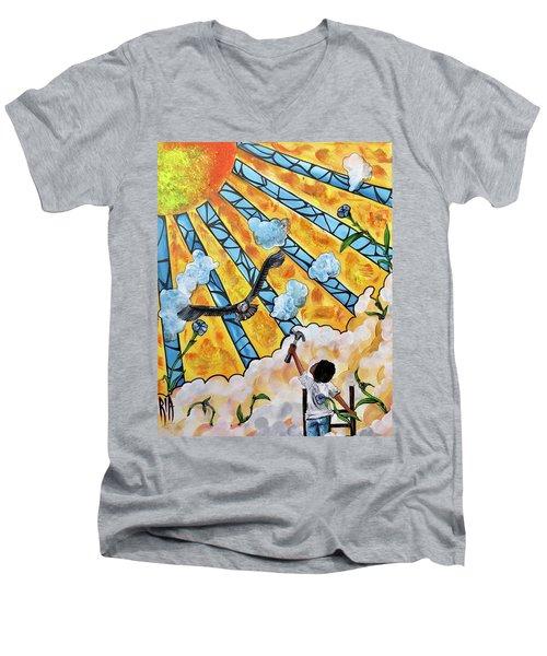 Shattered Skies Men's V-Neck T-Shirt