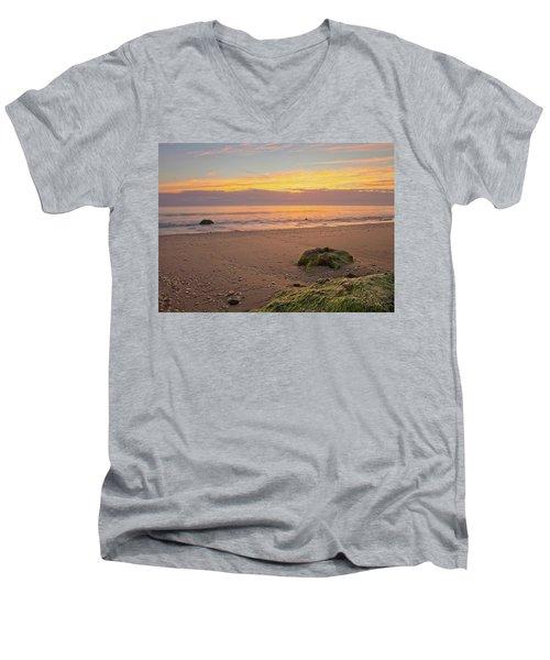 Shells On The Beach Men's V-Neck T-Shirt