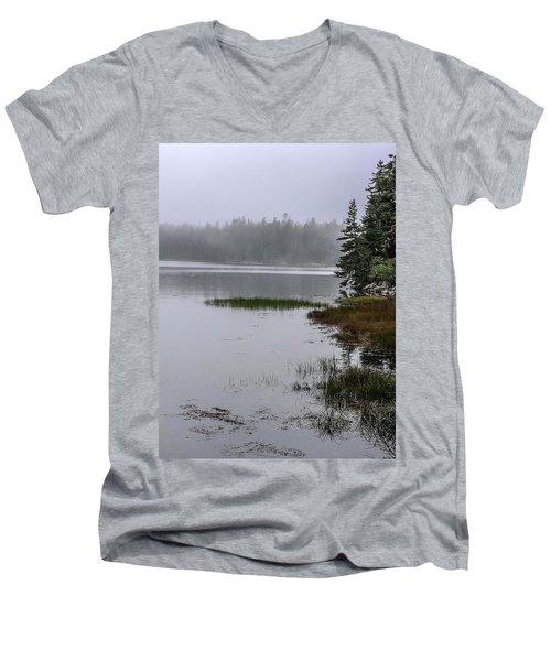 Ship Harbor Nature Trail, Acadia National Park Men's V-Neck T-Shirt