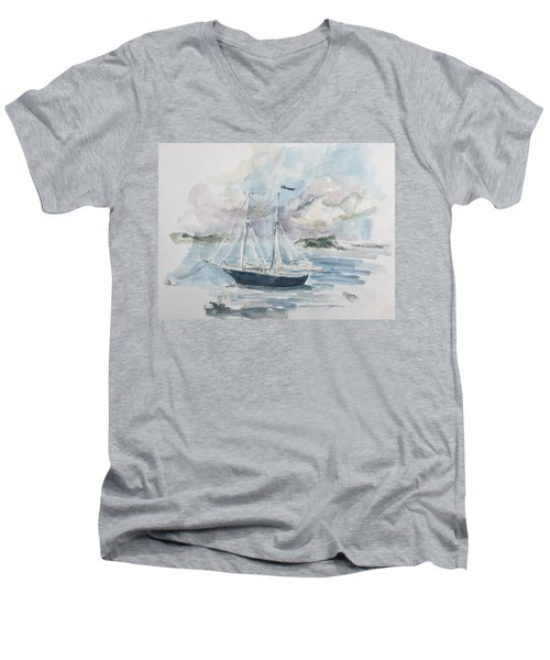 Ship Sketch Men's V-Neck T-Shirt