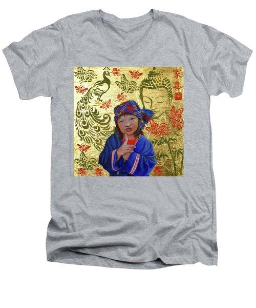 Silent Men's V-Neck T-Shirt