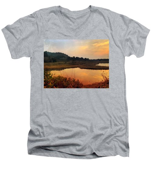 Sitka Sedge Sand Lake Eve Men's V-Neck T-Shirt