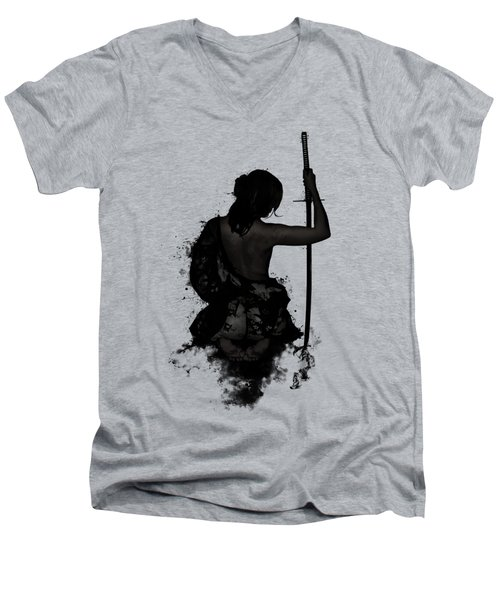 Female Samurai - Onna Bugeisha Men's V-Neck T-Shirt