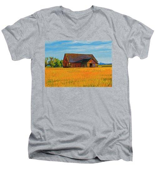 Skagit Valley Barn #9 Men's V-Neck T-Shirt