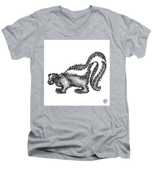 Skunk Men's V-Neck T-Shirt
