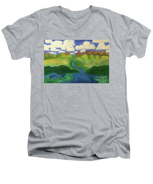 Sky River To Sea Men's V-Neck T-Shirt