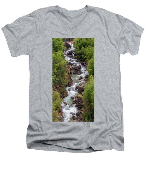 Small Cascade 1x2 Vertical Men's V-Neck T-Shirt