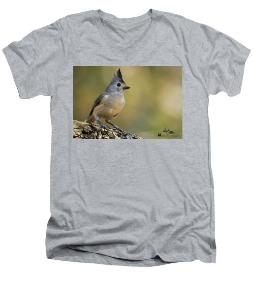 Small Titmouse Men's V-Neck T-Shirt