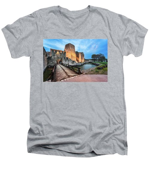 Smederevo Fortress Gate And Bridge Men's V-Neck T-Shirt
